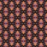 无缝的样式,小桔子在黑背景卷曲 免版税库存图片