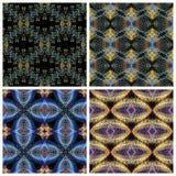 无缝的样式,小黄色、蓝色和淡紫色卷毛,在b 库存照片