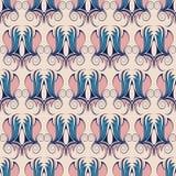 无缝的样式,桃红色和蓝色网眼图案 免版税库存照片
