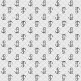 无缝的样式,灰色船锚 免版税库存照片