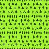 无缝的样式,绿色叶子,在浅绿色的背景,总和 库存照片