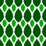 无缝的样式,绿色叶子,在白色背景,设计为 免版税库存图片