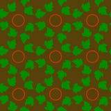 无缝的样式,绿色在圈子,质地分数维离开  皇族释放例证
