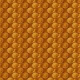 无缝的样式,背景,金黄金属自行车链子 免版税库存照片