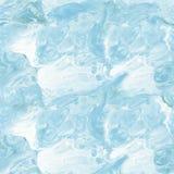 无缝的样式,蓝色大理石抽象手画背景 免版税库存图片