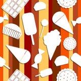 无缝的样式:甜点 免版税库存图片