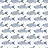 无缝的样式: 鱼 免版税库存照片