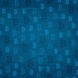 无缝的样式-在节目代码背景的bitcoin  皇族释放例证