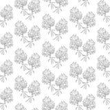 无缝的样式黑白春黄菊花 免版税图库摄影