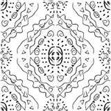 无缝的样式-黑白照片 免版税库存图片