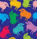 无缝的样式绵羊 免版税库存图片