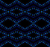 无缝的样式黑色蓝色 向量例证