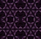 无缝的样式紫色黑色 免版税库存图片