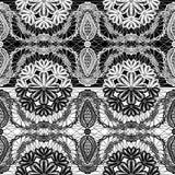 无缝的样式-花卉鞋带装饰品 库存图片