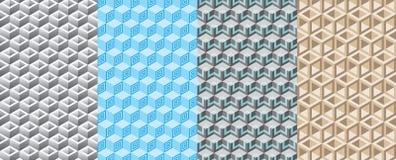 无缝的样式3D箱子 免版税图库摄影