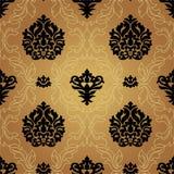 无缝的样式Background.Damask墙纸。 图库摄影