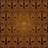 无缝的样式Background.Damask墙纸。 库存图片