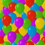 无缝的样式Balloones 库存例证