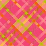 无缝的格子呢传染媒介样式 镶边格子花呢披肩样式 库存照片
