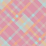无缝的格子呢传染媒介样式 镶边桃红色淡色格子花呢披肩样式 库存照片