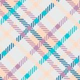 无缝的格子呢传染媒介样式 镶边淡色的格子花呢披肩样式 库存图片
