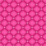 无缝的桃红色与别针的缝制的背景 免版税图库摄影