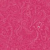 无缝的桃红色花卉背景 库存照片