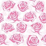 无缝的桃红色花背景 免版税库存照片