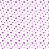 无缝的桃红色,紫色和白色斑点样式 免版税库存照片