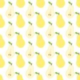 无缝的梨样式 库存照片