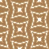 无缝的棕色和白色星主题的背景样式 库存例证