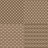 无缝的棕色格子样式背景 皇族释放例证