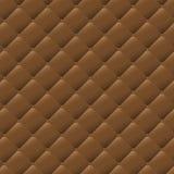 无缝的棕色皮革纹理样式背景 向量例证