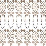 无缝的棕色织品样式墙纸 免版税库存照片