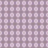 无缝的椭圆和金刚石样式紫色灰棕色 免版税库存照片