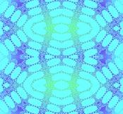 无缝的椭圆样式绿松石紫色发光 免版税库存图片