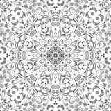 无缝的概述花卉样式 免版税库存图片