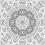 无缝的概述花卉样式 库存图片