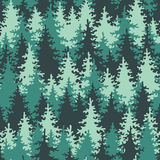 无缝的模式具球果深绿色 免版税图库摄影