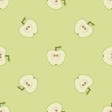 无缝的模式用苹果 免版税库存照片
