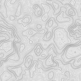 无缝的模式 与空间的地形图背景拷贝无缝的纹理的 线地势地图等高 皇族释放例证