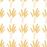 无缝的模式 也corel凹道例证向量 农业麦子背景传染媒介例证设计 库存例证