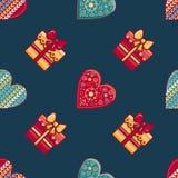 无缝的模式 圣诞快乐玩具 库存照片