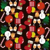 无缝的模式 圣诞节快活的新年度 免版税库存照片