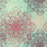 无缝的模式 在美好的颜色的装饰花卉样式 也corel凹道例证向量 库存图片