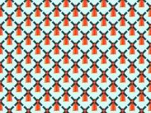 无缝的模式 在蓝色背景的抽象磨房 向量 免版税库存图片