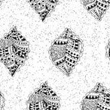 无缝的模式 在难看的东西背景的乱画叶子 库存例证
