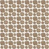 无缝的模式 曲奇饼 免版税库存图片