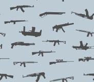 无缝的模式 枪剪影 也corel凹道例证向量 免版税图库摄影