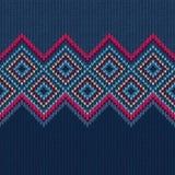 无缝的模式 编织羊毛装饰品纹理 免版税库存照片
